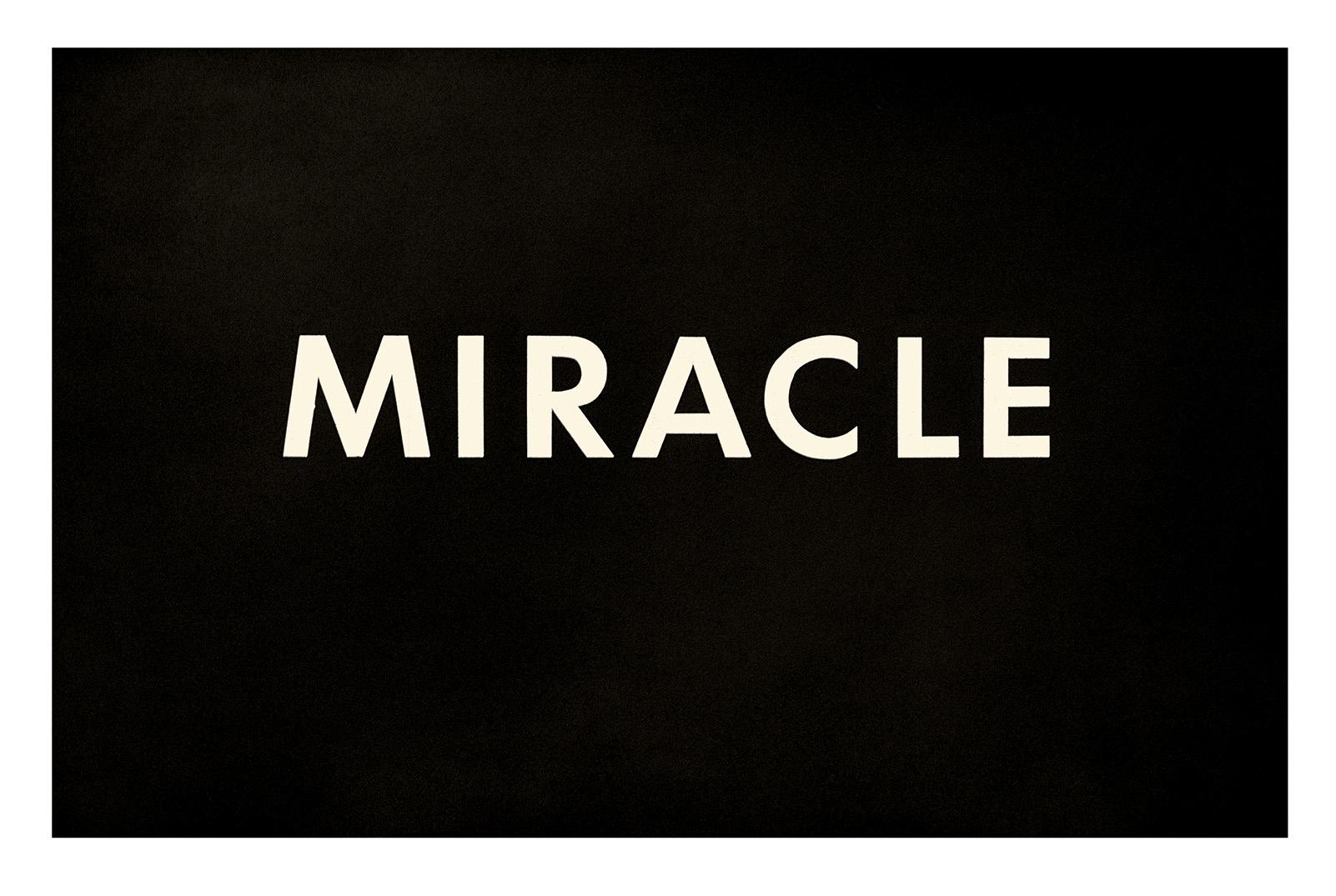Ed Ruscha Miracle Ed Ruscha